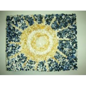 Steinbild Sonne