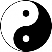 Yin-Yang als Symbol für Tao