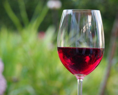 Bild eines Glases Rotwein zum Feedback zur Löschung einer Rotweinallergie