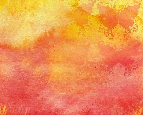 Orange-rosa Schutzschild für psychischen Schutz