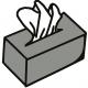 Bild einer Taschentuchbox für das Feedback über eine Prana Anwendung bei Nasenbluten