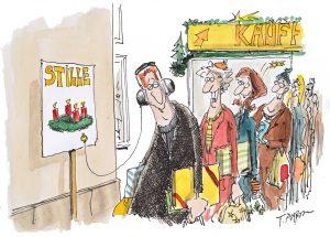 Cartoon zum Thema Stille