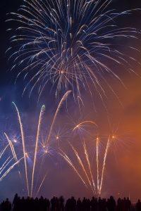 Feuerwerk zum Silvestertreffen