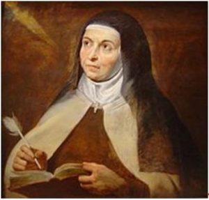 Bild von Teresa von Avila zu dem Gebet des älterwerdenden Menschen